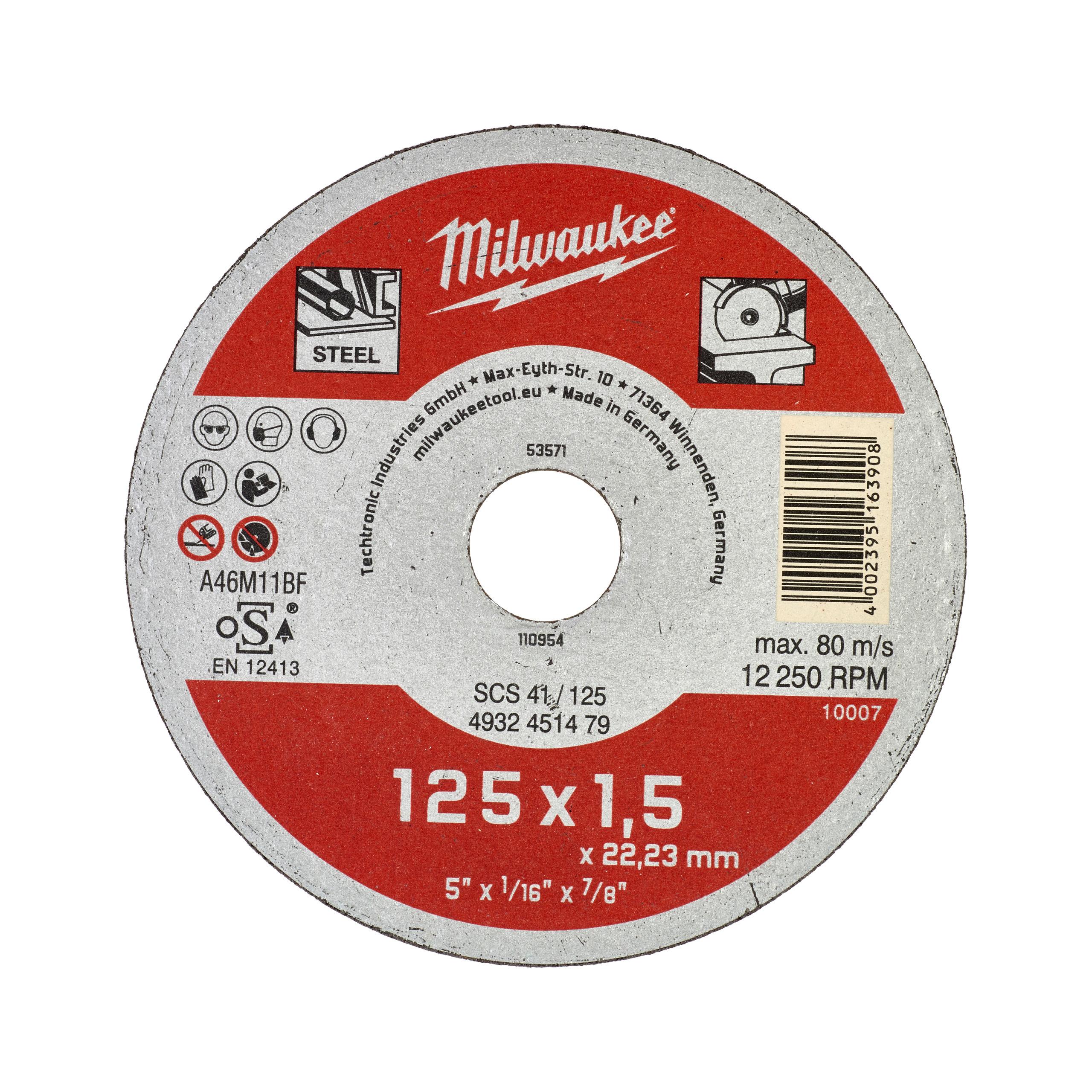 Řezný kotouč Contractor 125X1,5 - 1ks.