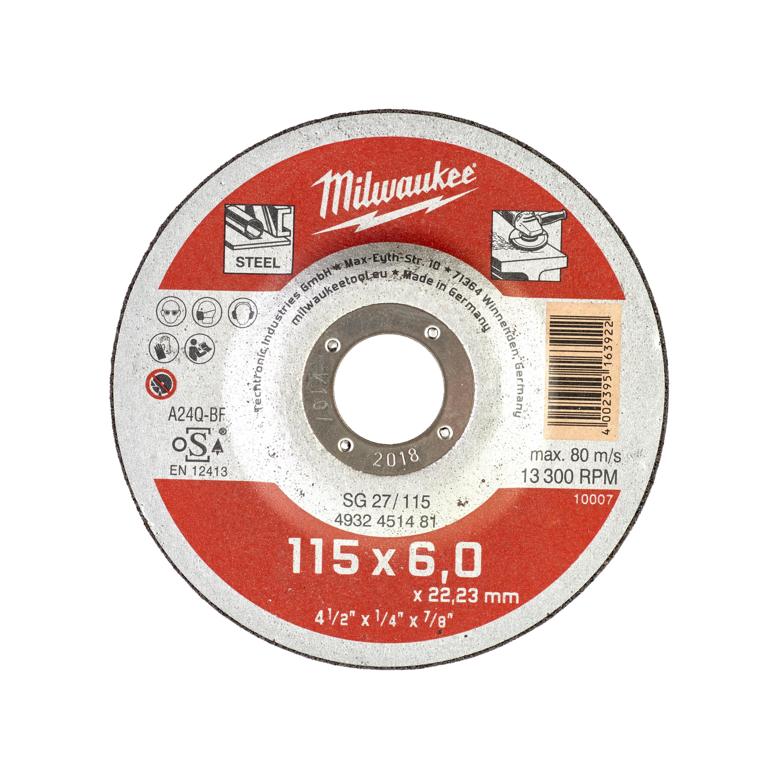 Brusný kotouč SG27/115 , 115X6 - 1ks na kov
