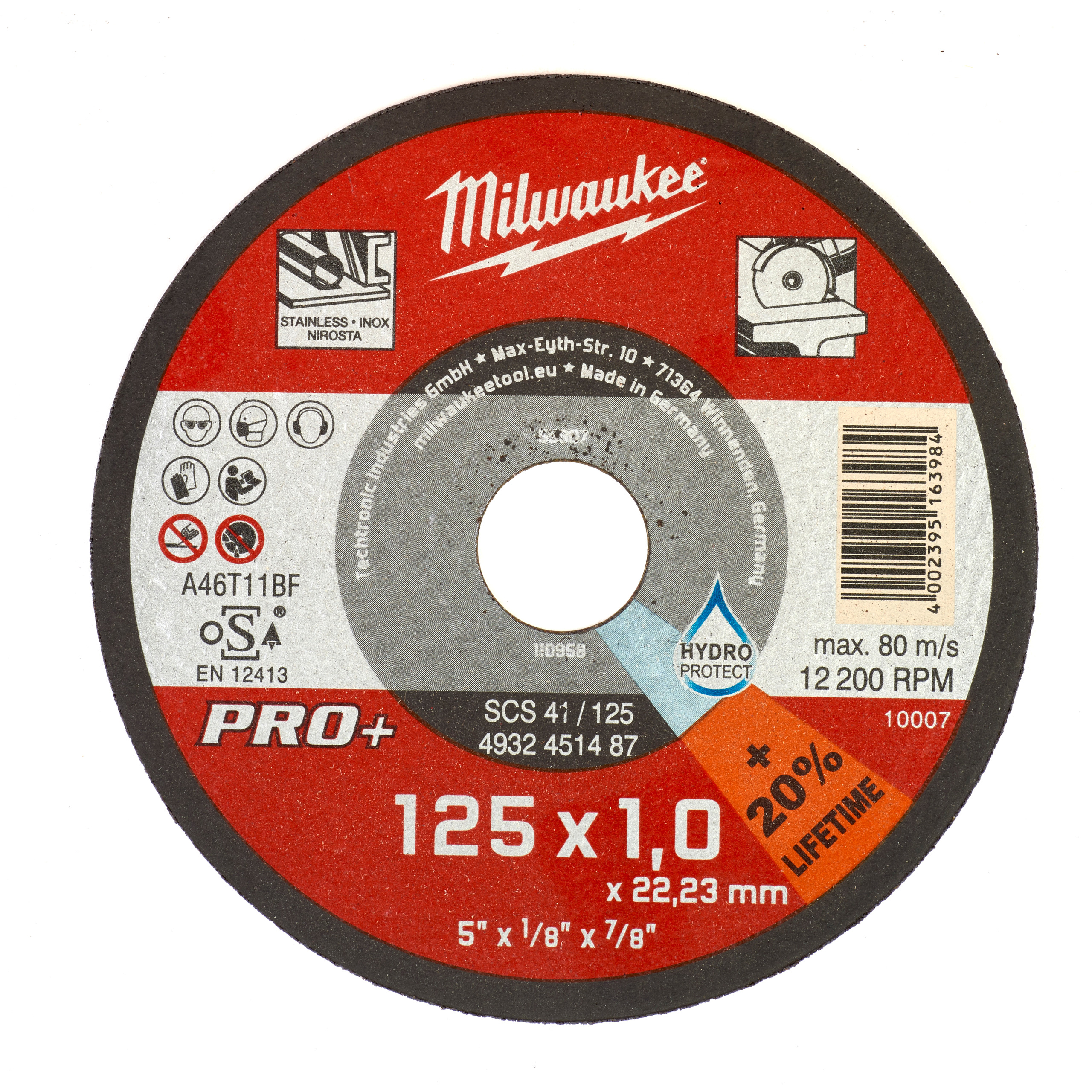 CutWSCS 41/125X1 PRO+ řezný kotouč - 1ks