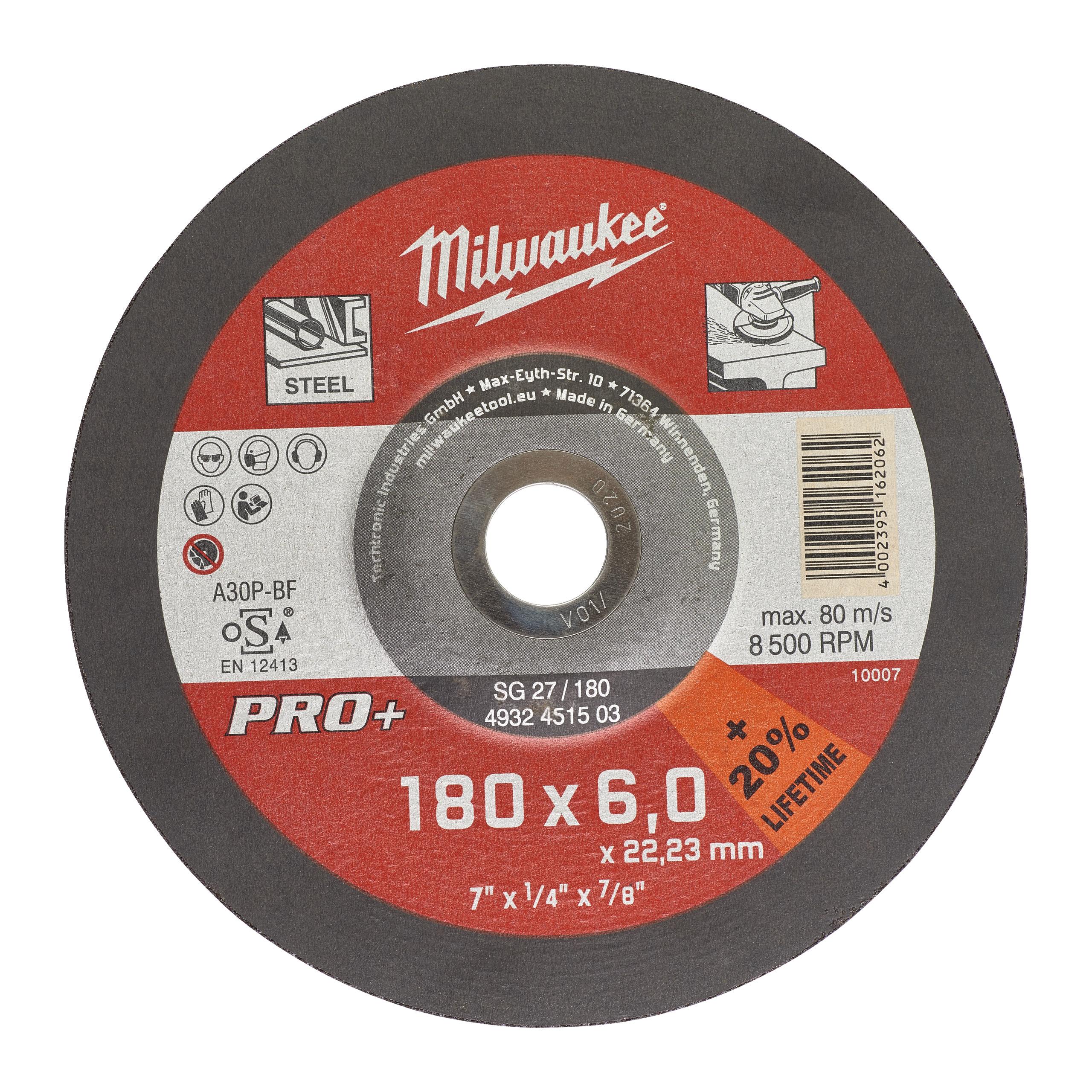 GrW SG27/180X6 PRO+ brusný kotouč - 1ks