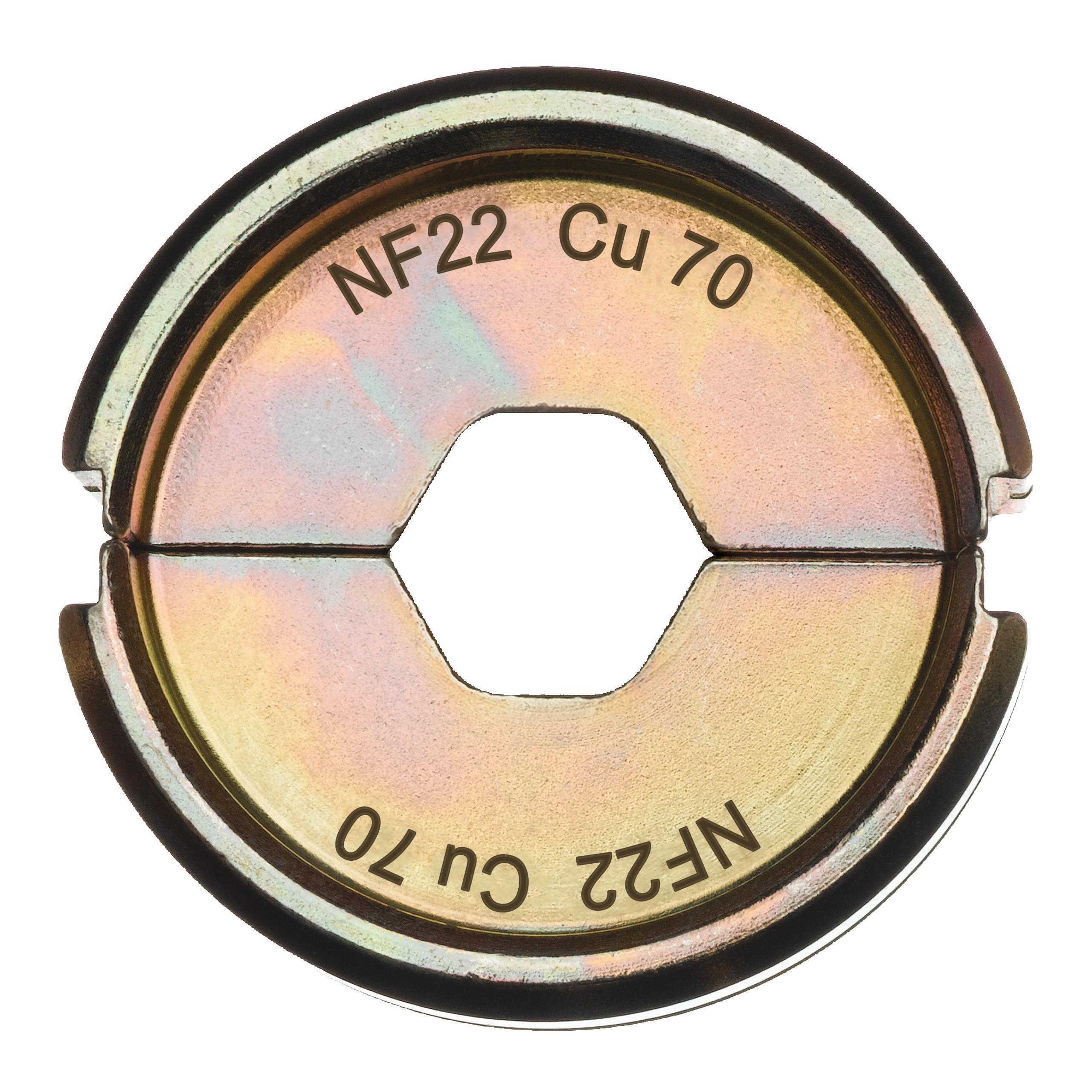 Krimpovací čelisti  NF22 Cu 70