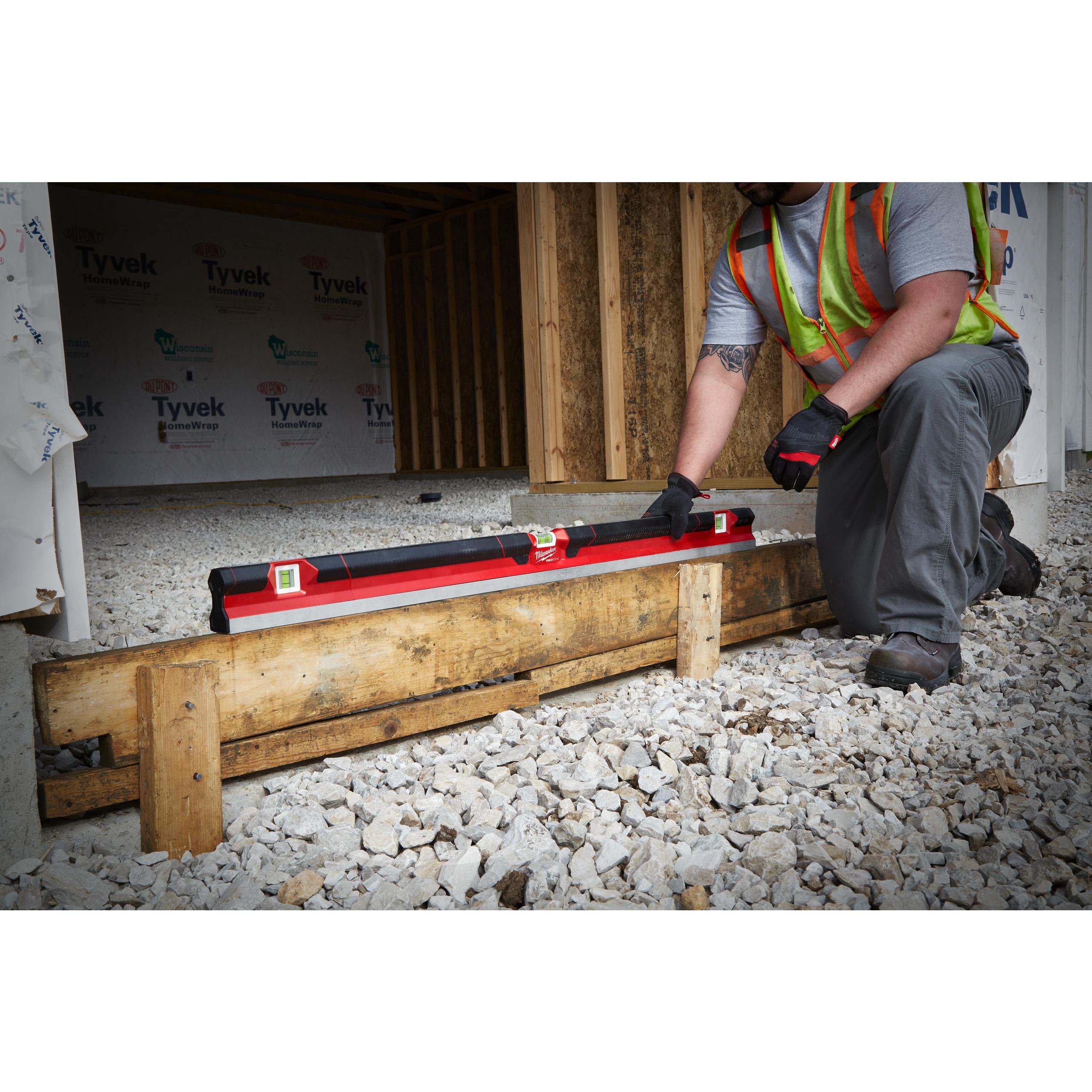 REDSTICK vodováha na beton 120cm