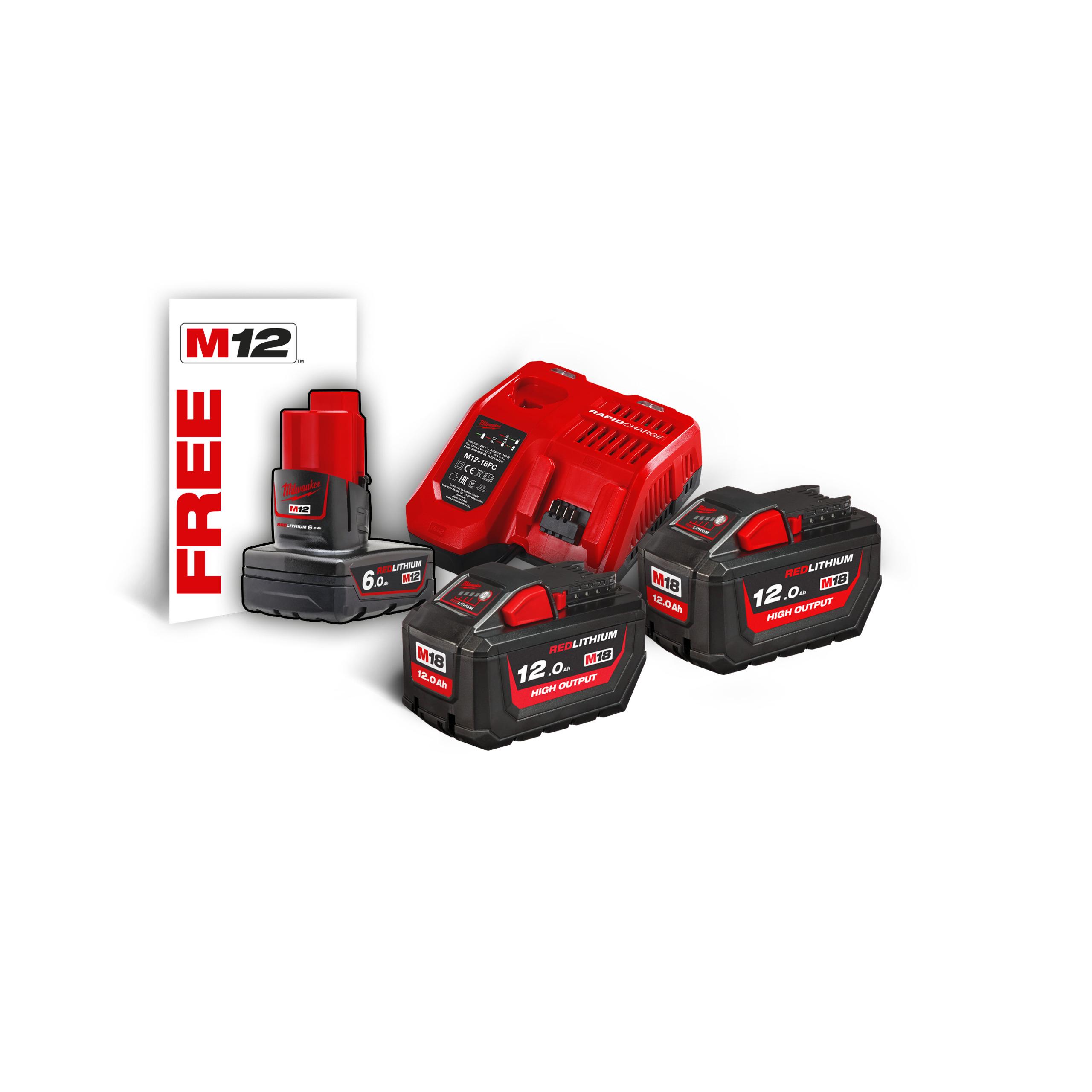 M18™ HIGH OUTPUT™ sada akumulátorů a nabíječky